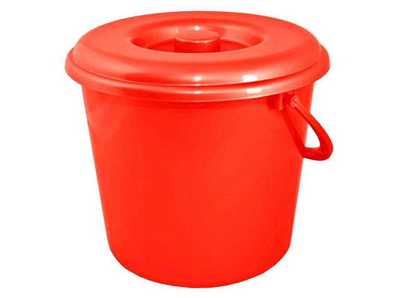 Відро господарче 5л ЕК, червоне 125061 ТМАЛЕАНА, фото 2