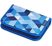 Пенал школьный Herlitz Cubes Blue с наполнением (31 предмет)