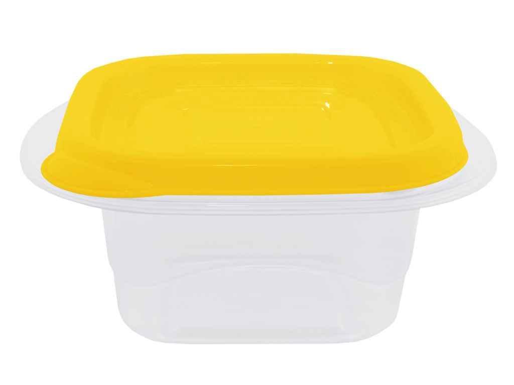 Набір контейнерів Омега квадрат 2,1л (3шт) проз./т.жовтий 169012 ТМАЛЕАНА
