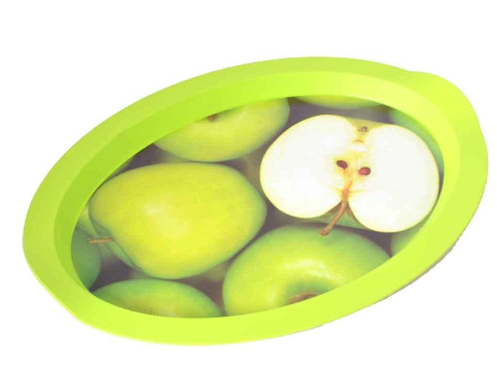 Піднос Овал з декором 47*35*4см Яблуко 167055 ТМАЛЕАНА