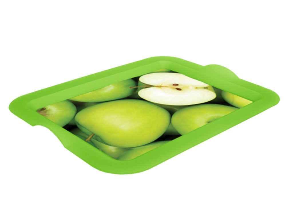 Піднос прямокутний з декором 46*36*4см Яблуко 167056 ТМАЛЕАНА