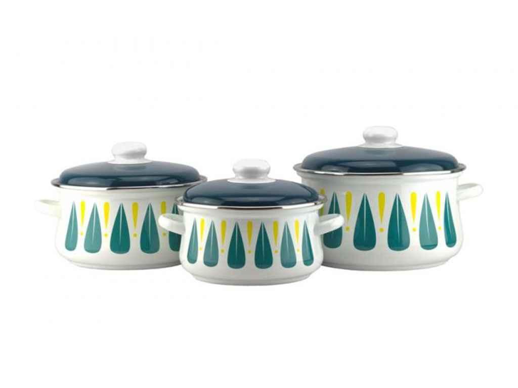 Набор эмалированной посуды Эмаль Топаз 3 предмета (№7-323/6)