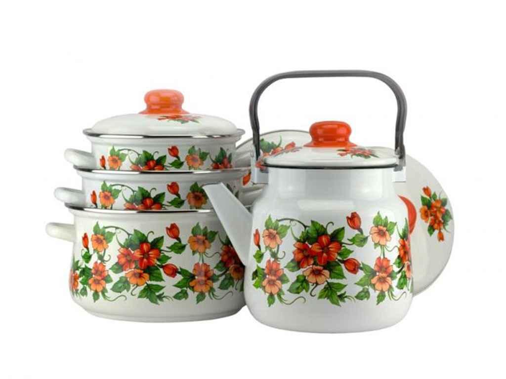 Набор эмалированной посуды Эмаль Забава 4 предмета (№7-306/6)