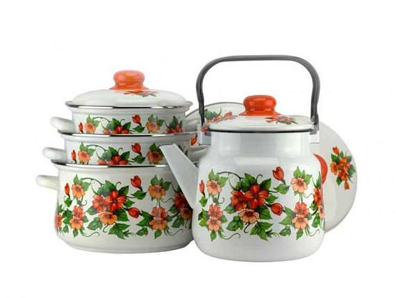 Набор эмалированной посуды Эмаль Забава 4 предмета (№7-306/6), фото 2