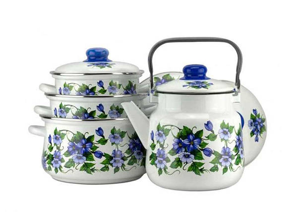 Набор эмалированной посуды Эмаль Забава 4 предмета (№7-307/6), фото 2