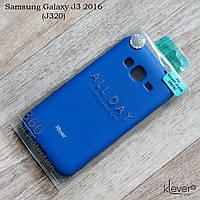 Оригинальный силиконовый чехол Roar All Day для Samsung Galaxy J3 2016 (j320) (синий)