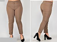 Женские брюки укороченные бежевые, с 48-58 размер, фото 1