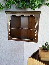Угловая деревянная полка, фото 3