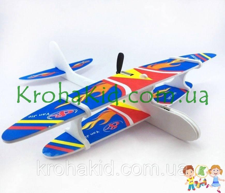 Летающая модель самолета-планера с электродвигателем (моторчиком) без пульта управления Original size Aircraft