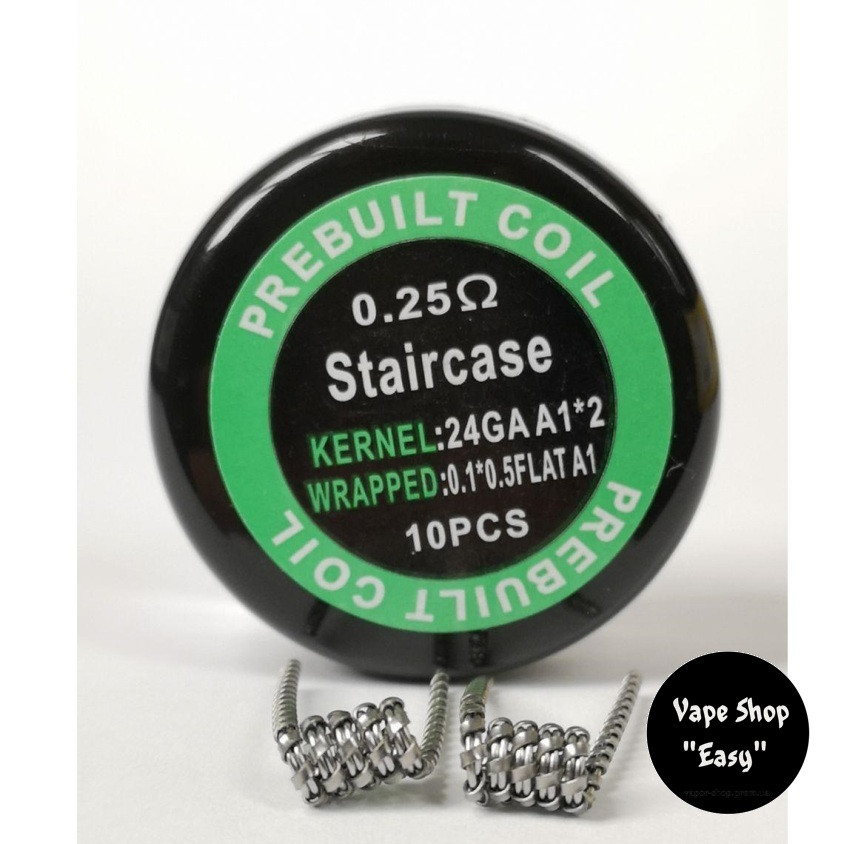 Staircase coil упаковка 10 шт. Готовые койлы, спирали для электронных сигарет.
