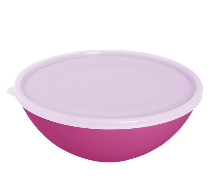 Миска пл. з кришкою 3л 167018 (темно-рожевий/прозорий) ТМАЛЕАНА
