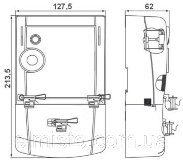 Габаритні розміри лічильника AD11A.1