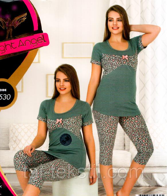 Комплект домашний лосины и футболка Night Angel № 9530