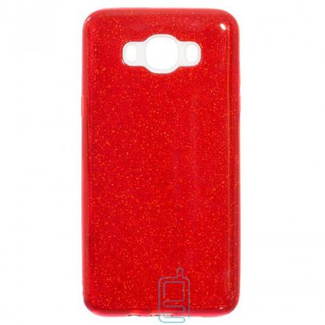 Чехол силиконовый Shine Samsung J7 2016 J710 красный, фото 2