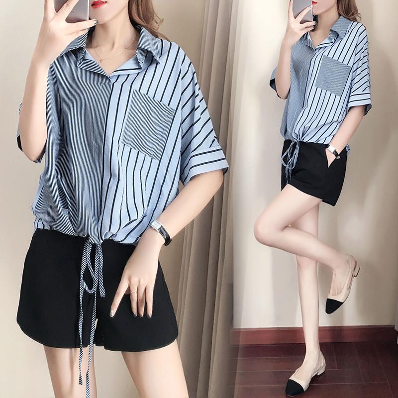 Стильная женская рубашка на завязках 44-50 (в расцветках)