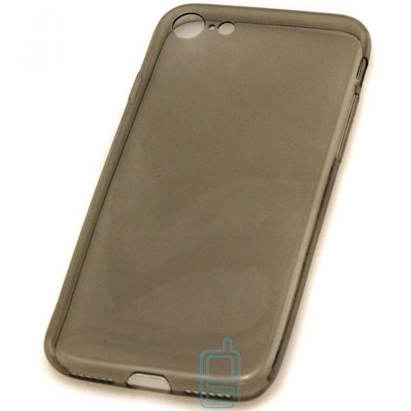 Чехол силиконовый Slim Apple iPhone 7 затемненный