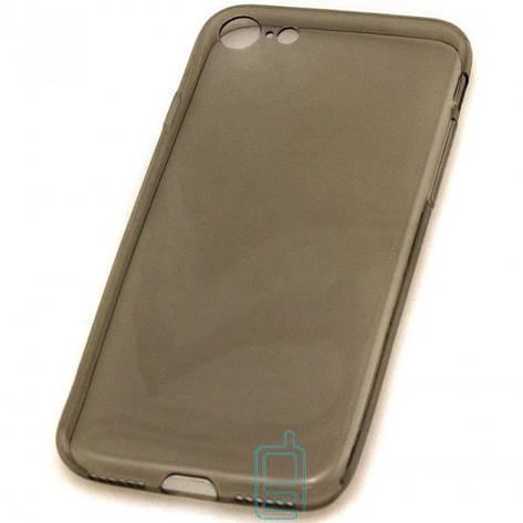 Чехол силиконовый Slim Apple iPhone 7 затемненный, фото 2