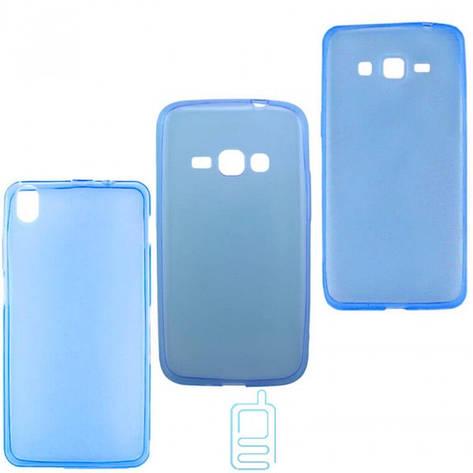 Чехол силиконовый цветной Meizu MX4 синий, фото 2