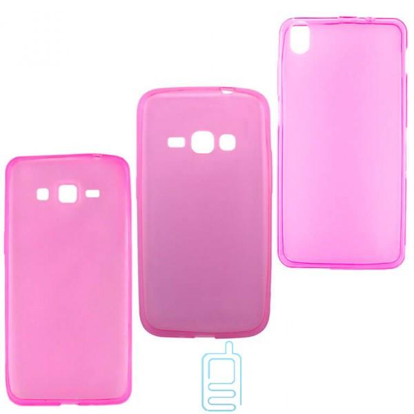 Чехол силиконовый цветной Samsung A7 2016 A710 розовый