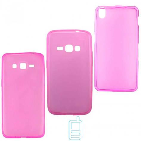 Чехол силиконовый цветной Samsung A7 2016 A710 розовый, фото 2