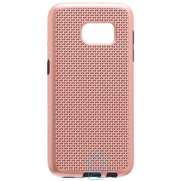 Чехол-накладка GINZZU Carbon X1 Samsung S7 G930 розовый