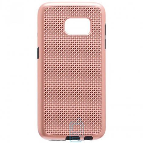 Чехол-накладка GINZZU Carbon X1 Samsung S7 G930 розовый, фото 2