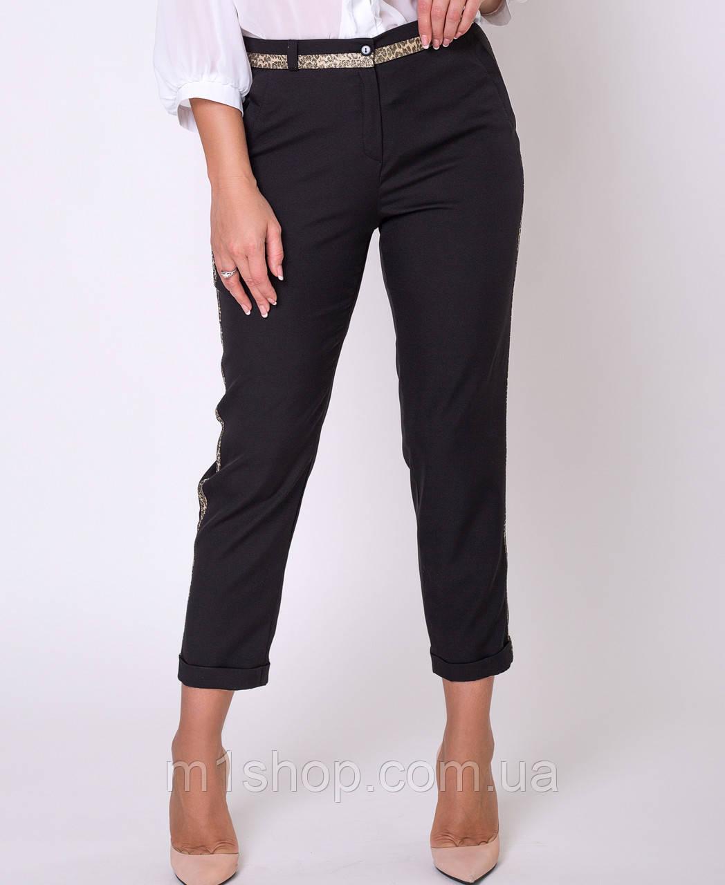 Женские брюки с золотыми лампасами больших размеров (Сонет lzn)