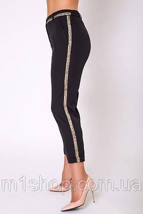 Женские брюки с золотыми лампасами больших размеров (Сонет lzn), фото 2