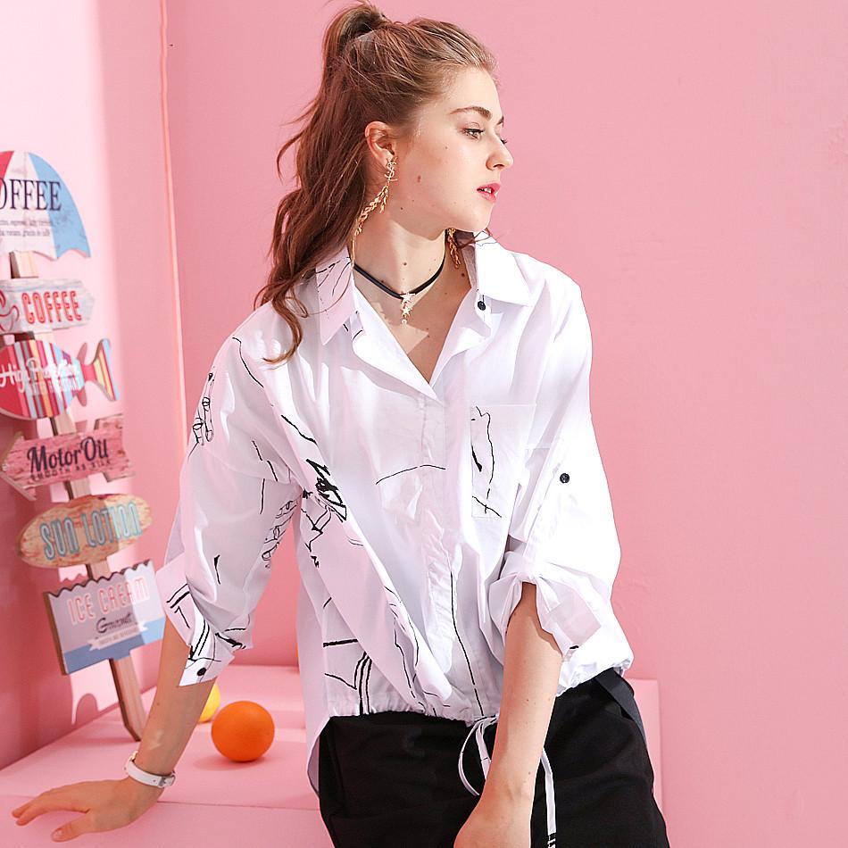 Модная рубашка с абстрактным рисунком 44-50 (в расцветках)