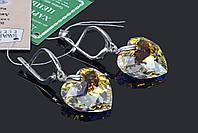 Серьги в форме сердца с кристаллами Swarovski, фото 1