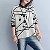 Красивая хлопковая рубашка женская 44-48 (в расцветках), фото 2