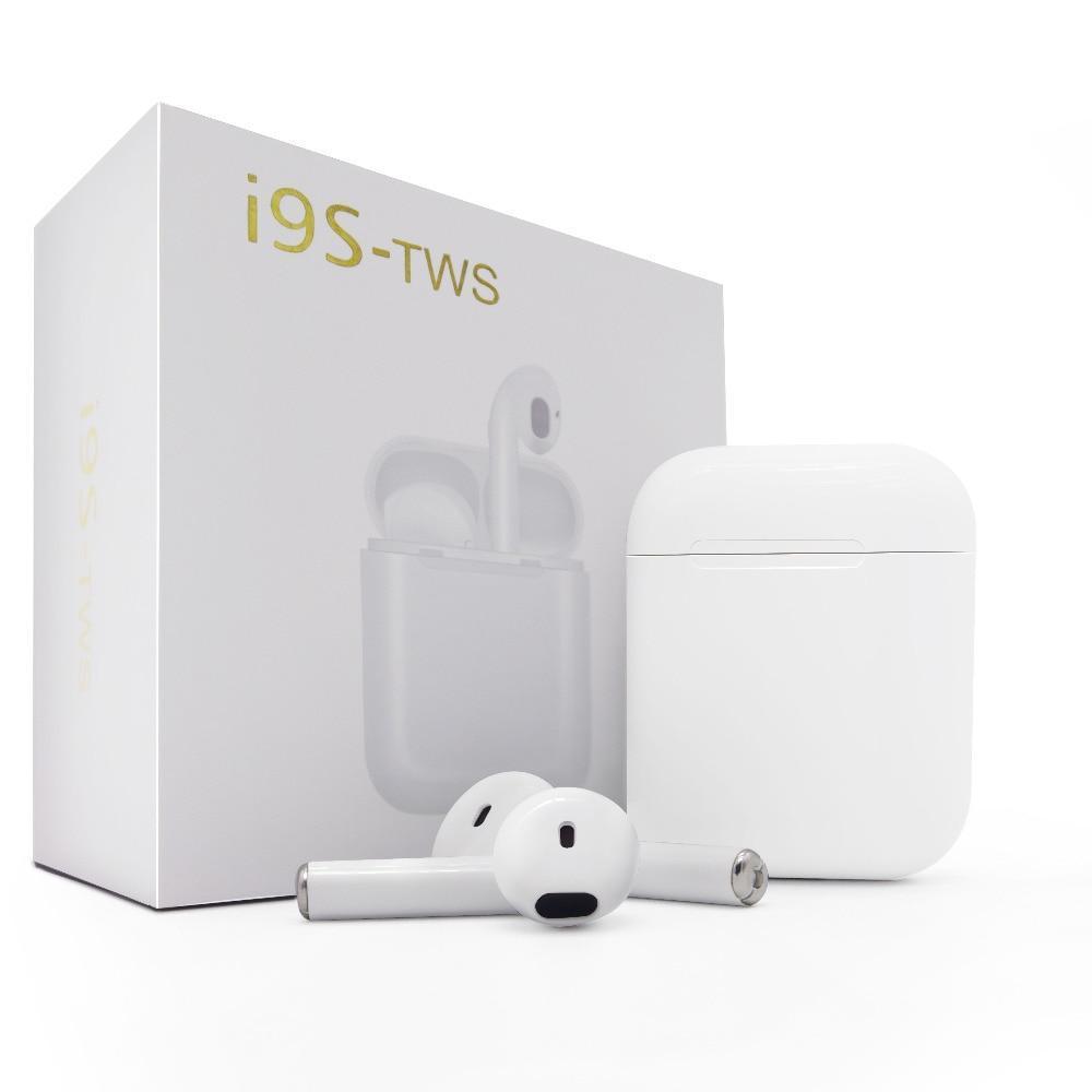 Беспроводные наушники TWS i9s White + чехол
