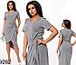 Летнее полосатое платье с коротким рукавом (джинс) 829265, фото 3