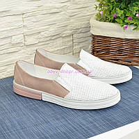 Туфли женские комбинированные на утолщенной подошве, фото 1