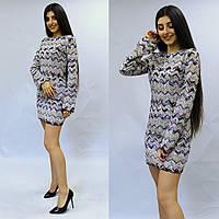 Яркое женское платье с длинным рукавом, фото 1