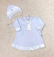 """Крестильная рубашка с шапочкой """"Ангел"""", белая 62-68-74 р., фото 1"""