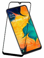 Защитное стекло Samsung Galaxy A30 2019 A305 (ПОЛНАЯ ПРОКЛЕЙКА) (2.5D)