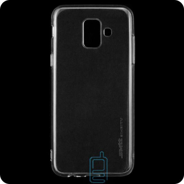 Чехол силиконовый SMTT Samsung A6 2018 A600 прозрачный