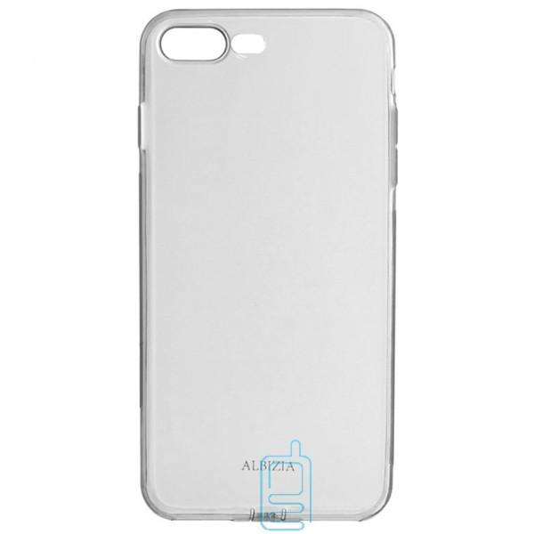Чехол силиконовый Albizia с Заглушкой Apple iPhone 7 Plus. 8 Plus черный