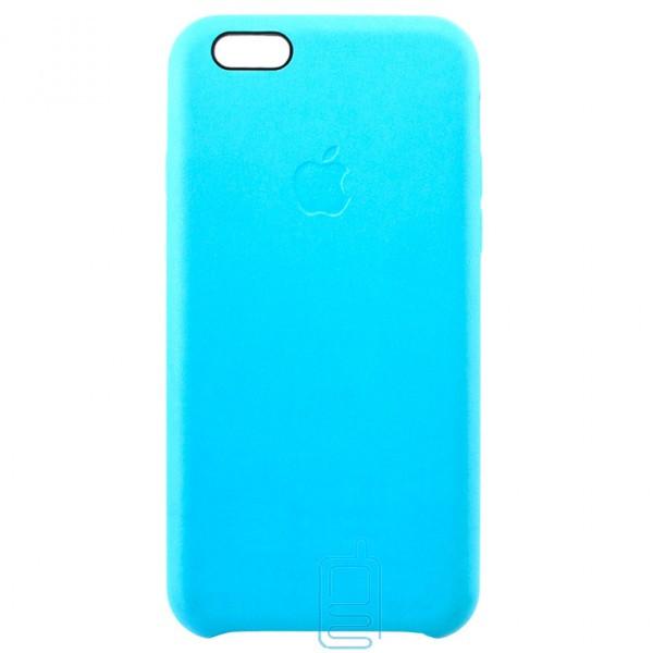 Чехол силиконовый Leather Apple iPhone 6 голубой