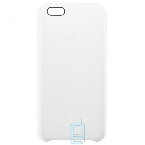Чехол силиконовый Leather Apple iPhone 6 белый
