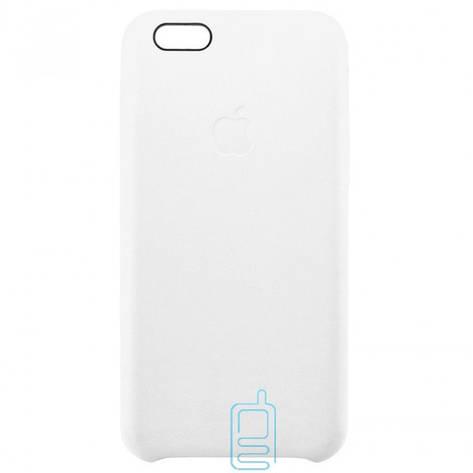 Чехол силиконовый Leather Apple iPhone 6 белый, фото 2