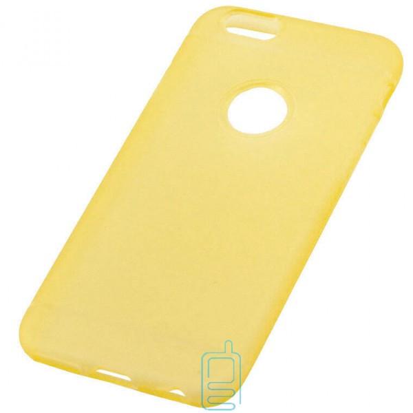 Чехол силиконовый Apple iPhone 6 матовый желтый