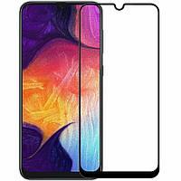 Защитное стекло Samsung Galaxy A50 2019 A505 (ПОЛНАЯ ПРОКЛЕЙКА) (2.5D)