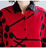 Укороченная женская рубашка хлопок 44-48 (в расцветках), фото 7