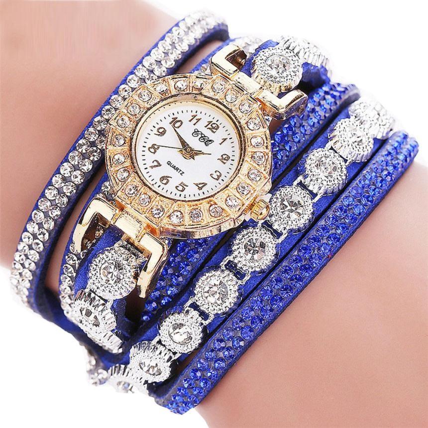 """Женские наручные часы """"CCQ"""" (синий ремешок)"""