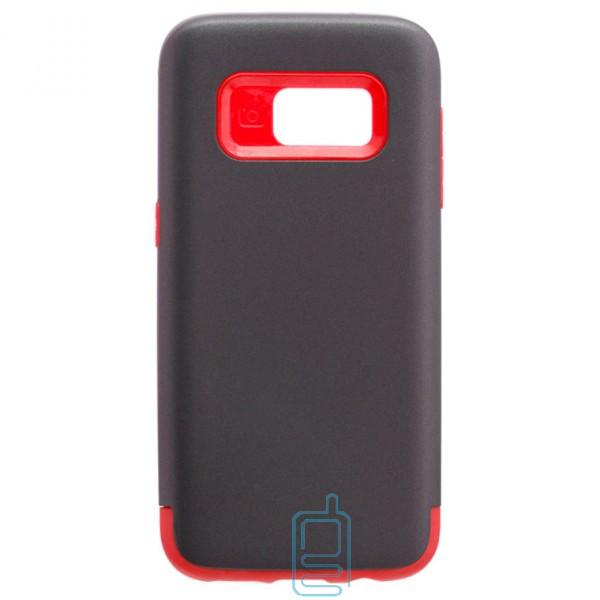 Чехол-накладка Motomo X1 Samsung S7 G930 серо-красный