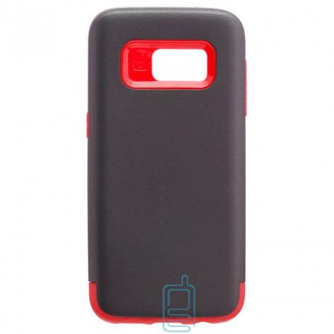 Чехол-накладка Motomo X1 Samsung S7 G930 серо-красный, фото 2