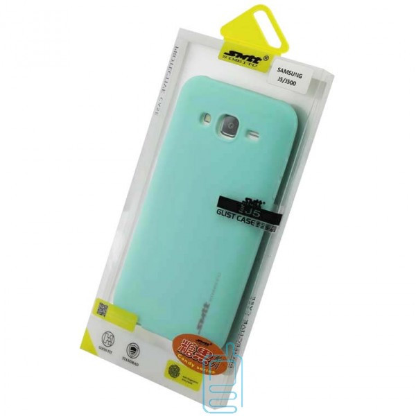 Чехол силиконовый SMTT Samsung J5 2015 J500 бирюзовый