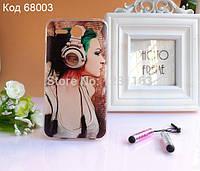 Чехол на Lenovo A680 оригинальная панель накладка с рисунком девушка в наушниках